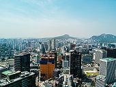 Aerial image of Seoul, Capital city of South Korea