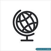 Globe Icon Vector Template Illustration Design