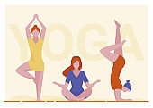 Female yogi group