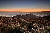 Beautiful sunset on mountain