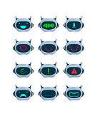 Bot faces set
