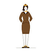 Stewardess wearing uniform