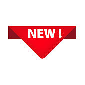 New goods arrival creative sticker illustration