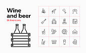 Wine and beer icons