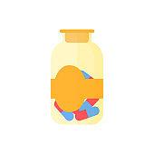 Transparent medical bottle illustration