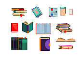 Various books set