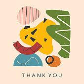 Creative universal artistic card - thank you
