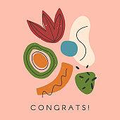 Creative universal artistic card - congrats