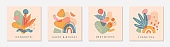 Bundle of creative universal artistic cards