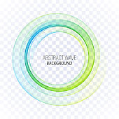 Abstract blue, green swirl circle bright background. Vector illustration for you modern design. Round frame or banner