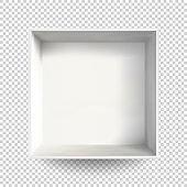 White open realistic box Vector illustration eps10