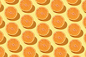 Orange Pattern on Yellow Background