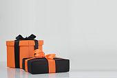 Halloween colorsa gift boxes