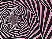 Spiral abstract vector background - Pink and Black Tunnel vortex. Spiral abstract background, vector pattern - Vertigo Collection