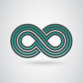 Infinity Symbols. Vector Loop Icon. Collection