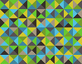 Abstract triangle background - Seamless Vector Collection