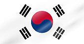 South Korea flag - Vector Collection