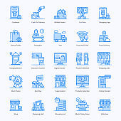 Ecommerce Flat Icon Vectors Pack