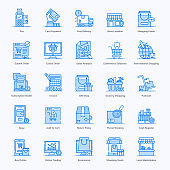 Retail Shopping Flat Icons Pack