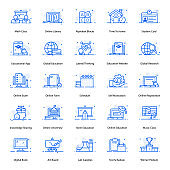 Pack Of E Learning Flat Icons