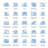Pack Of Ecology Flat Icons