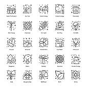 Pack of Nature line Icons