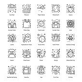 Pack of Ecology line Icons
