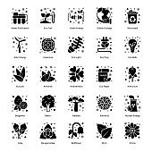 Pack of Nature Solid Icons