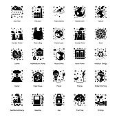 Pack of Ecology Solid Icons