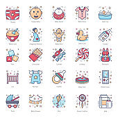 Pack Of Family Relations Flat Icons