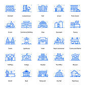 Pack Of Buildings Flat Icon