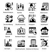 Web and Business Solid Icons Set