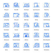 Seo And Web Flat Icons Pack
