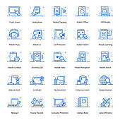 Mobile Technology Flat Icons Pack