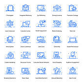 Business And Marketing Flat Icons Pack