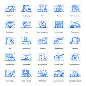 Pack Of Business Flat Icons