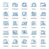 Web And Mobile Apps Flat Icons Pack