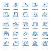Debt And Mortgage Flat Icons Pack