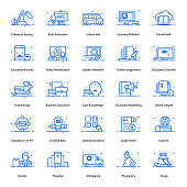 Pack Of Education Flat Icons