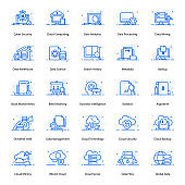 Cloud Technology Flat Icons Pack