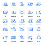 Real Estate Flat Icons Pack