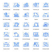 Pack Of Loan Flat Icons