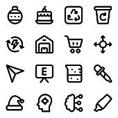 Pack of Party, Entertainment and Technology Solid Icons