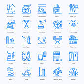 Pack Of Tailoring Flat Icons