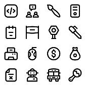 Pack of Technology Solid Icons