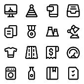 Pack of Equipment Solid Icons