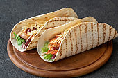 Tacos - traditional Mexican dish