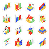 Isometric Icons of Graphs and Charts