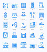 Home Adornment Flat Icons Pack