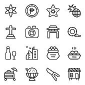 Philippine Cuisines Solid Icons Pack